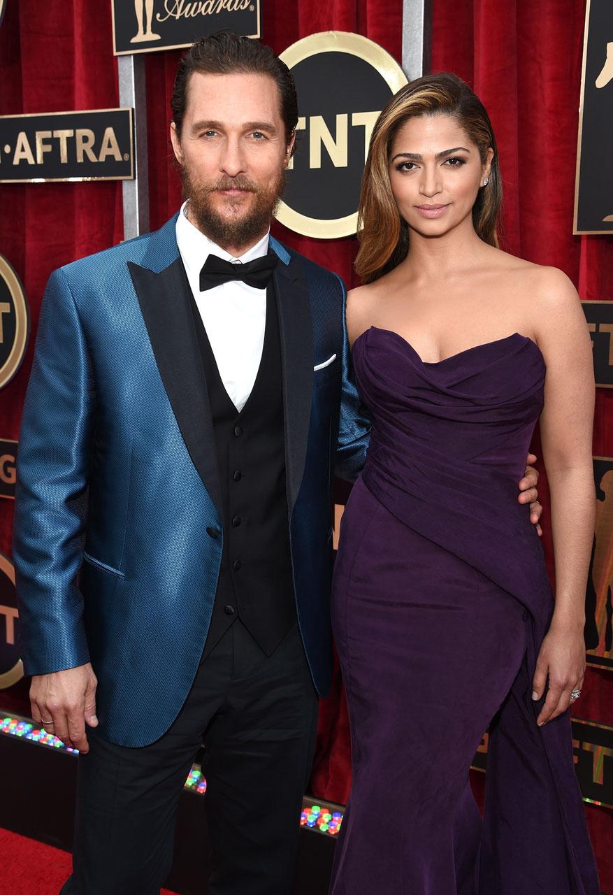 SAG Awards 2015 14/30: Matthew McConaughey e Camila Alves (Foto Dimitrios Kambouris/WireImage)