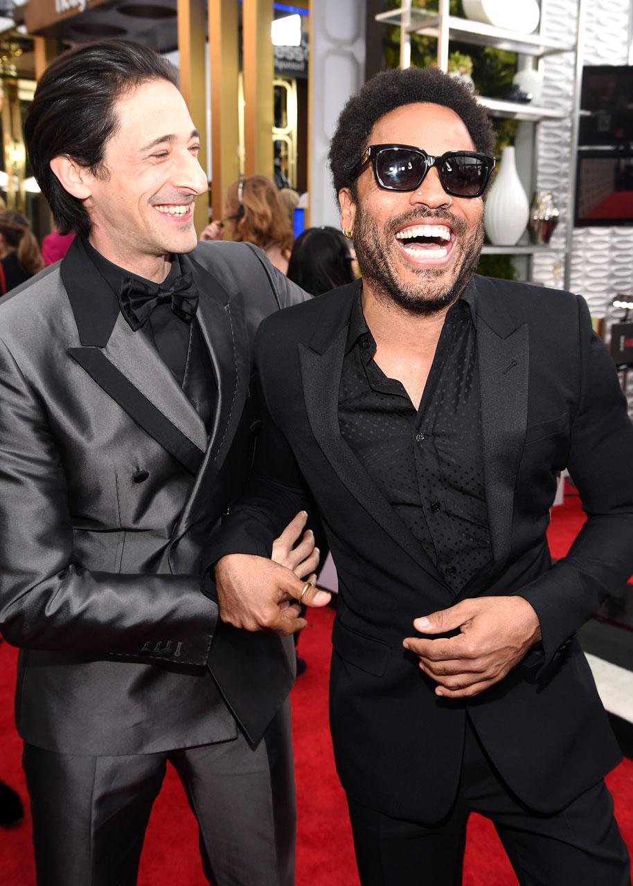 SAG Awards 2015 5/30: Adrien Brody e Lenny Kravitz (Foto Dimitrios Kambouris/WireImage)
