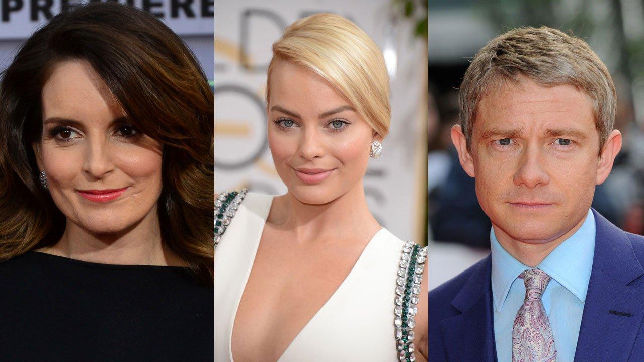 Paramount Pictures anuncia rodagem de comédia com Tina Fey, Margot Robbie e Martin Freeman