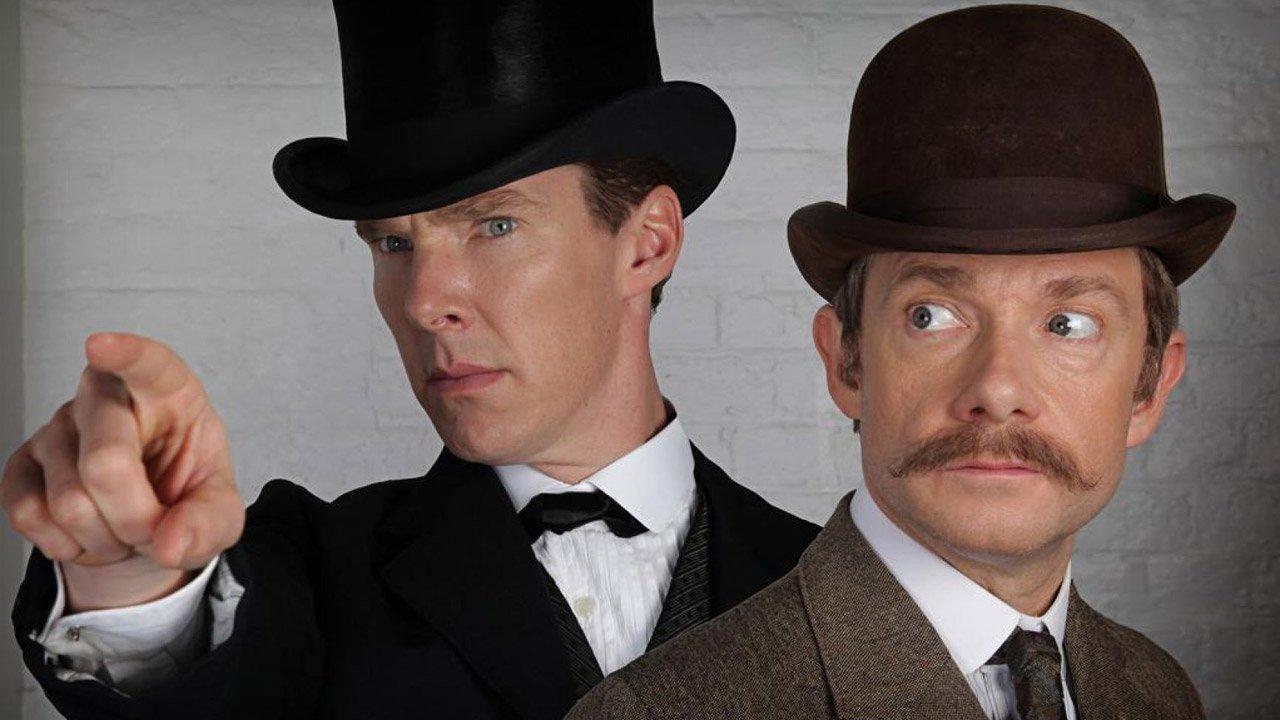 """Cumberbatch e Martin Freeman viajam ao passado em """"Sherlock"""""""