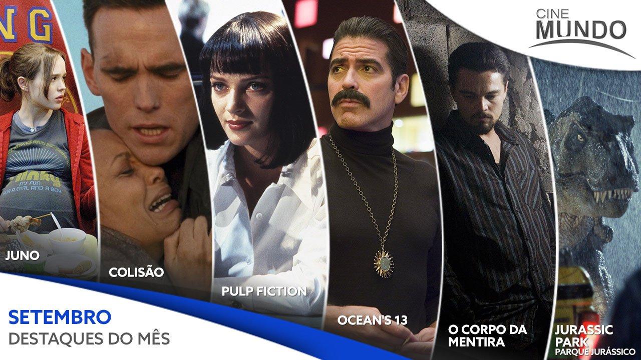 Programação do canal Cinemundo em setembro