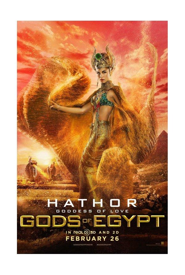 deuses egípcios e alpercatas seis posters apresentam as personagens