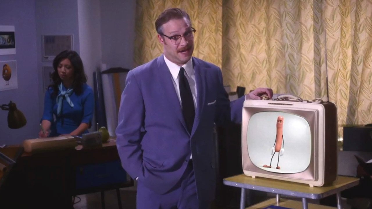 """Sausage Party"": Seth Rogen imita Walt Disney para vender animação mal educada"