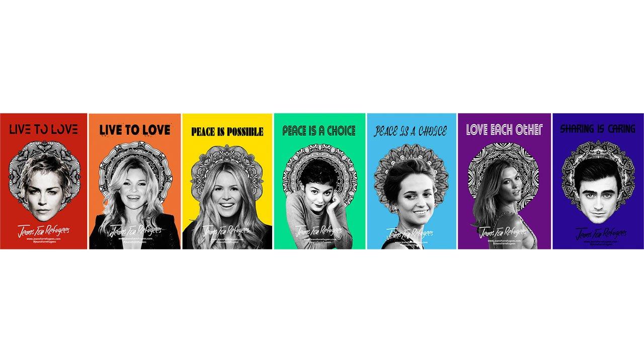 Kate Moss, Daniel Radcliffe, Woody Allen e outras celebridades doam calças para leilão em prol dos refugiados