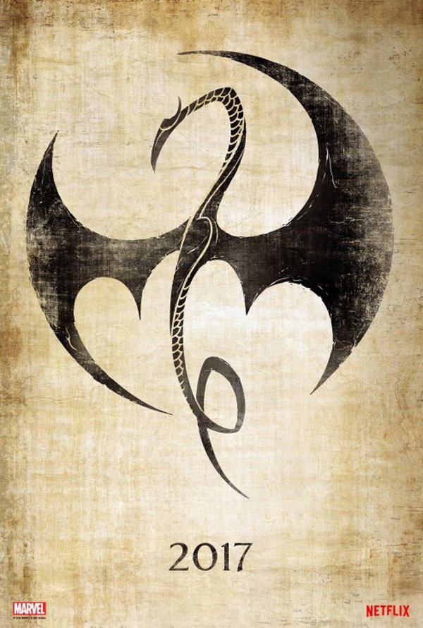 "Posters Comic Con 2016 1/10: Poster ""Iron Fist"" série temporada 1"