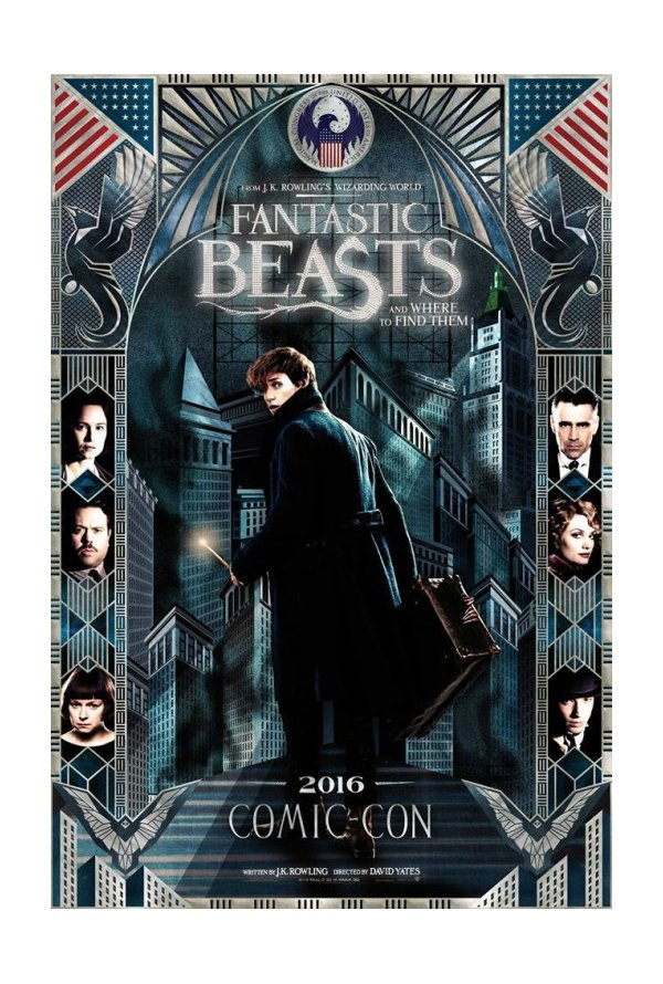 "Posters Comic Con 2016 2/10: Poster ""Fantastic Beasts and Where To Find Them"" (2016)"