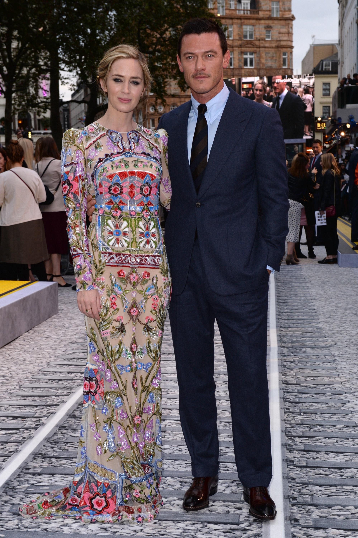 "Premiere ""A Rapariga do Comboio"" 5/10: Emily Blunt e Luke Evans."