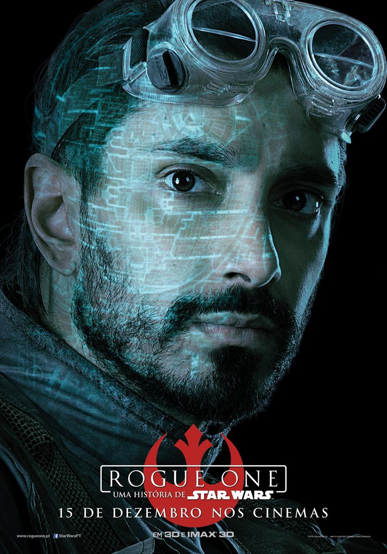 Rogue One: Uma História de Star Wars - posters das personagens 2/8: Bodhi Rook. Antigo piloto do Império que viu a luz.