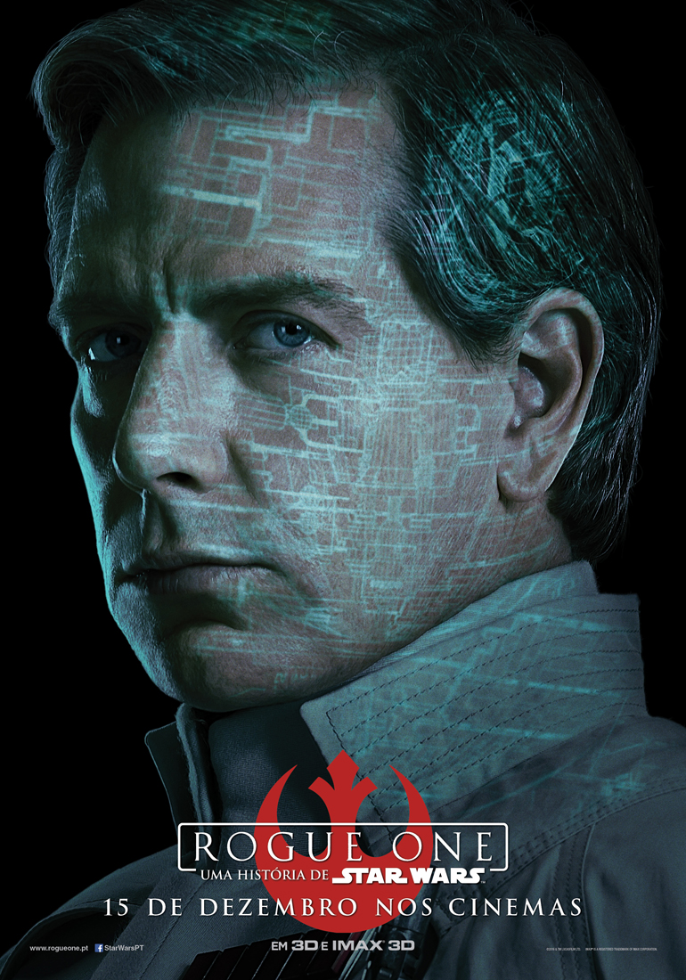 Rogue One: Uma História de Star Wars - posters das personagens 6/8: Director Orson Krennic. Cruel. Brilhante. Obcecado.