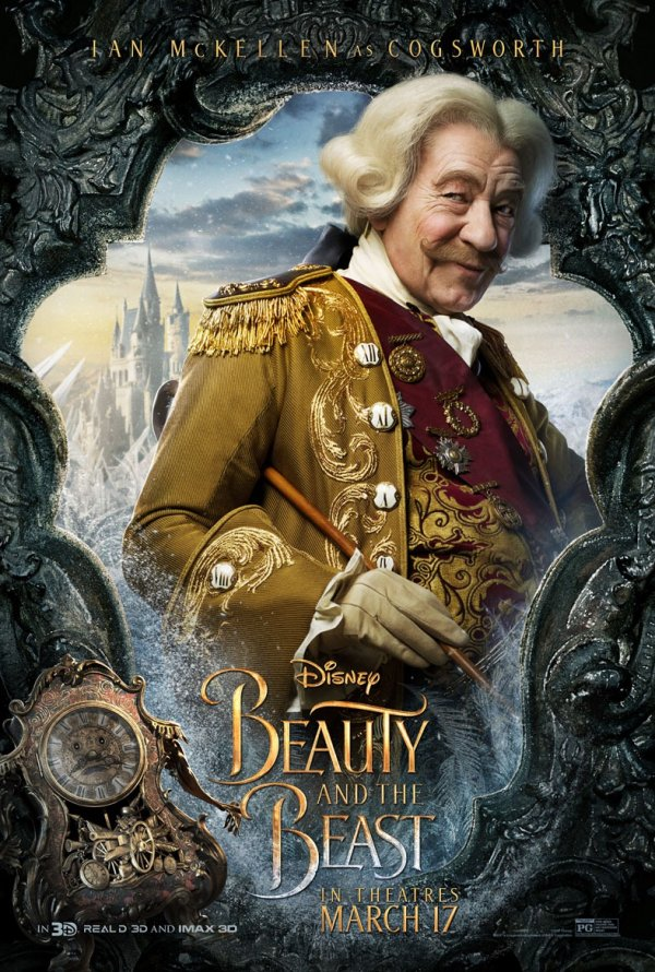 A Bela e o Monstro (personagens) 4/12: Ian McKellen (Cogsworth)