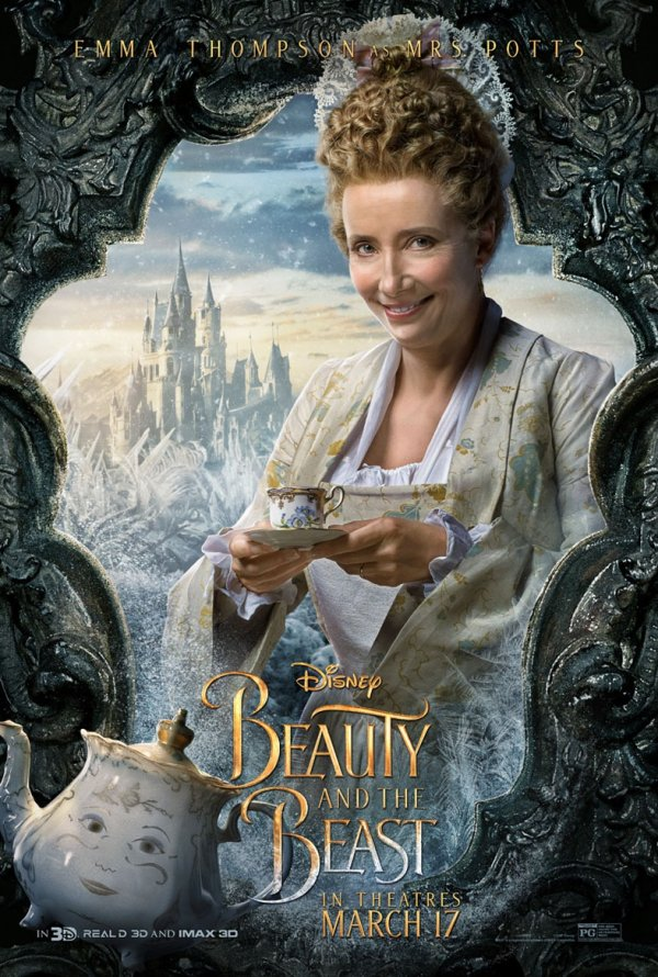 A Bela e o Monstro (personagens) 11/12: Emma Thompson (Mrs. Potts)