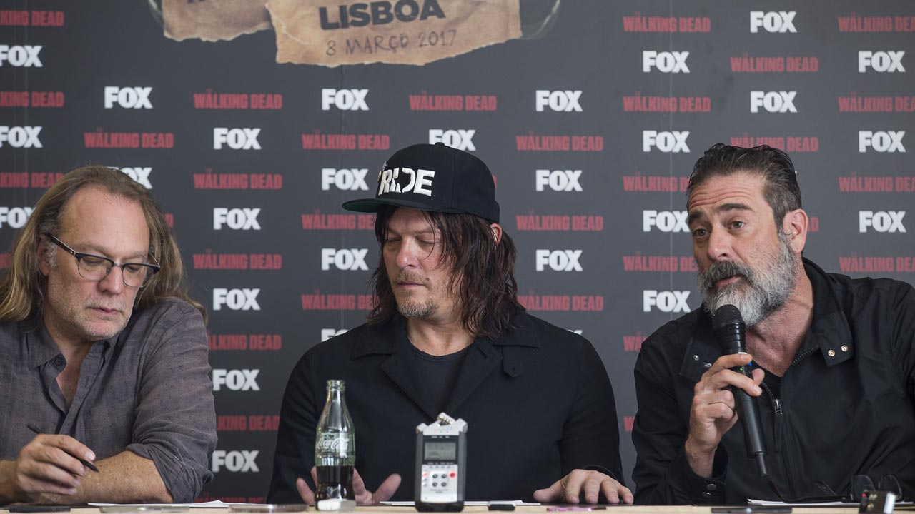 "Elenco de ""The Walking Dead"" em Lisboa: entrevistas com Jeffrey Dean Morgan, Norman Reedus e Greg Nicotero"