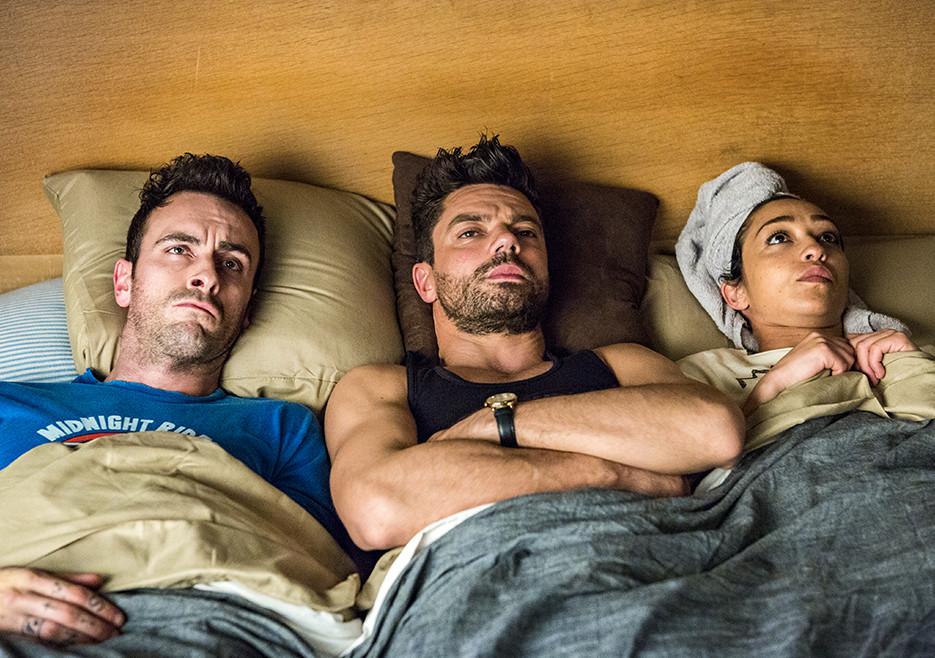Preacher - primeiro olhar sobre a temporada 2 2/6: Cassidy (Joseph Gilgun), Jesse Custer (Dominic Cooper) e Tulip (Ruth Negga).