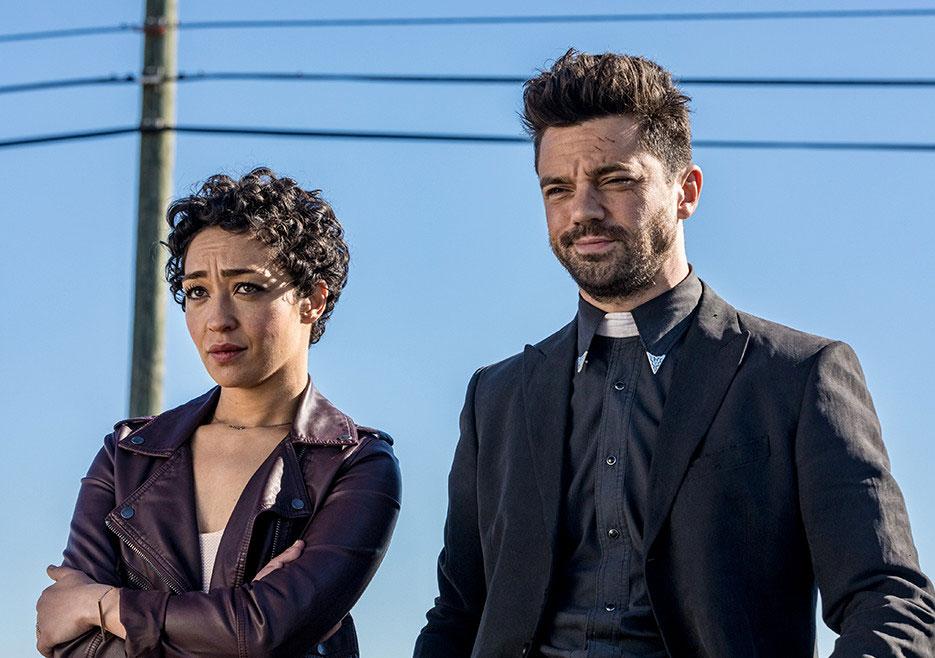 Preacher - primeiro olhar sobre a temporada 2 1/6: Tulip (Ruth Negga) e Jesse Custer (Dominic Cooper).