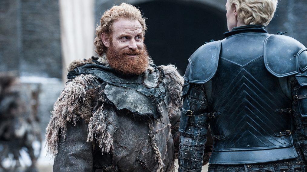 """Primeiro olhar - temporada 7 de """"A Guerra dos Tronos"""" 3/15: Kristofer Hivju (Tormund Giantsbane) e Gwendoline Christie (Brienne of Tarth)"""