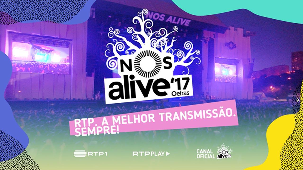 RTP anuncia cobertura em direto do festival NOS Alive 2017