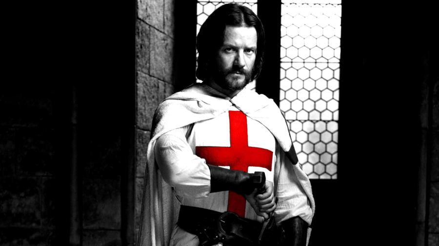 Knightfall - Elenco e personagens 7/10: Pádraic Delaney é Gawain, um antigo cavaleiro que deixou de poder lutar após ser ferido numa perna.