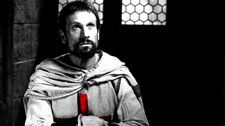 Knightfall - Elenco e personagens 8/10: Simon Merrells é Tancrede, um templário experiente e ferozmente leal à ordem.