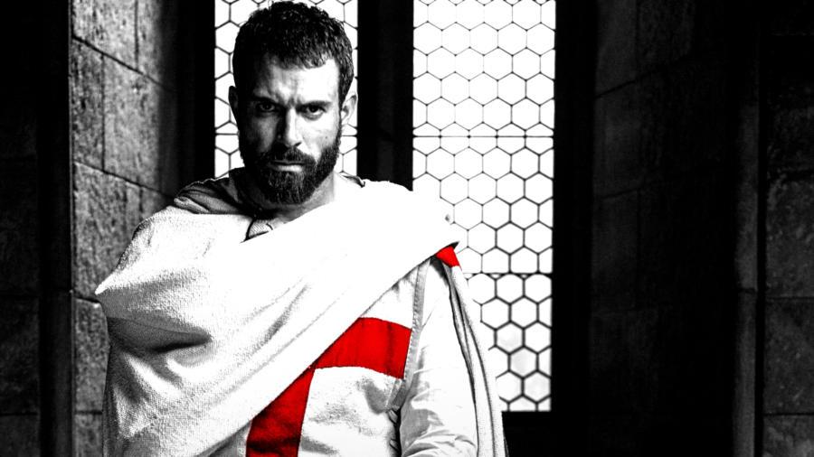 Knightfall - Elenco e personagens 10/10: Tom Cullen é Landry, um cavaleiro veterano das Cruzadas e obcecado pela descoberta do Santo Graal.