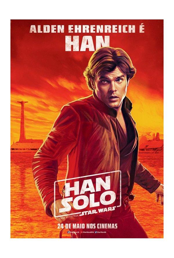 Posters brasileiros: Solo: Uma História de Star Wars 2/5: Han
