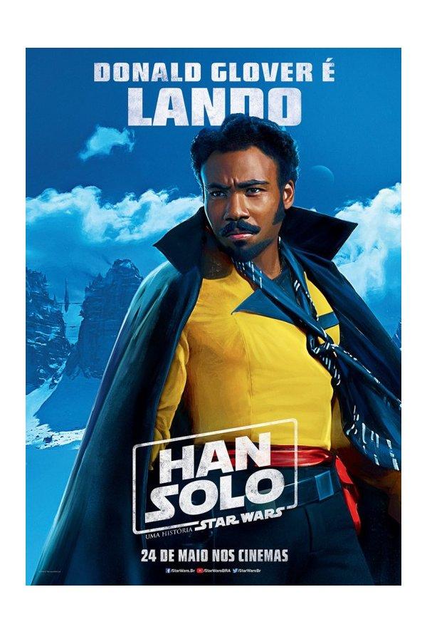 Posters brasileiros: Solo: Uma História de Star Wars 3/5: Lando