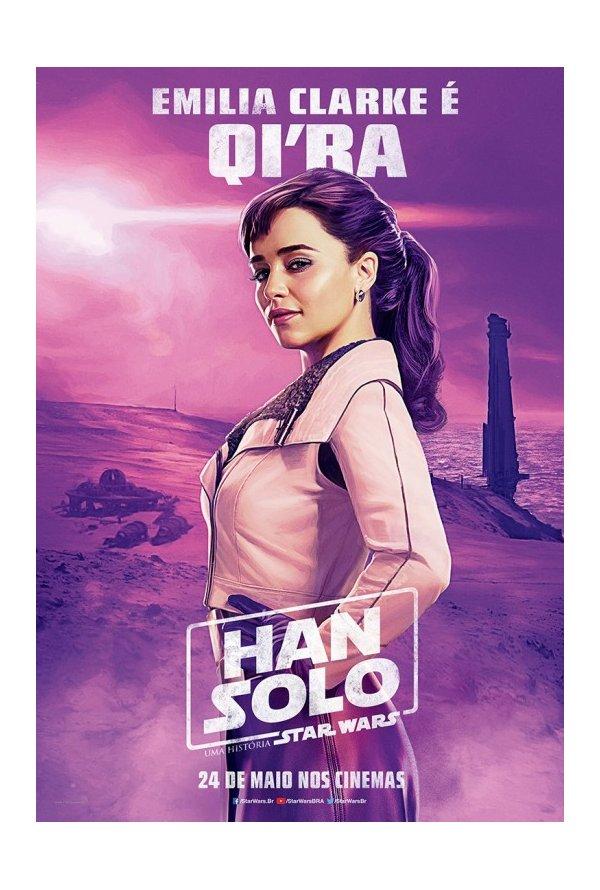 Posters brasileiros: Solo: Uma História de Star Wars 4/5: Qi'ra