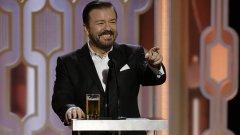 Ricky Gervais volta a apresentar os Globos de Ouro