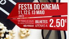 Festa do Cinema: bilhetes mais baratos de 11 a 13 de maio