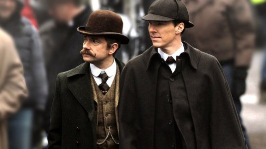 "Primeira cena do especial ""Sherlock"""