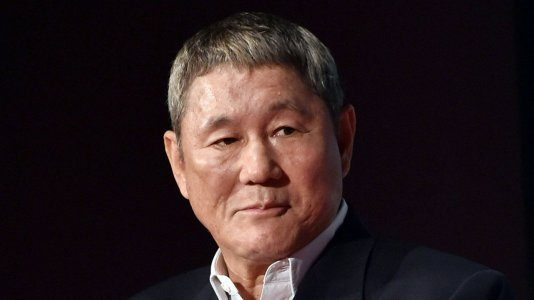 "Takeshi Kitano com Scarlett Johansson em ""Ghost in the Shell"""